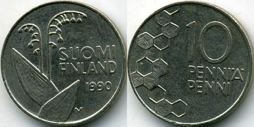 10 пенни финляндия 1 злотый 1977 года стоимость