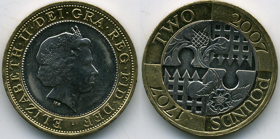 монеты 2 фунта каталог цена