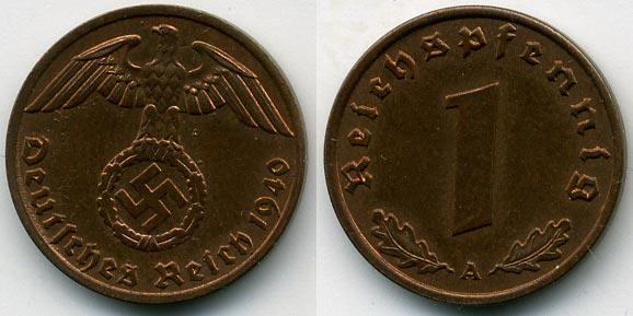 Монеты германии 1940 года 1 zl 1978 цена