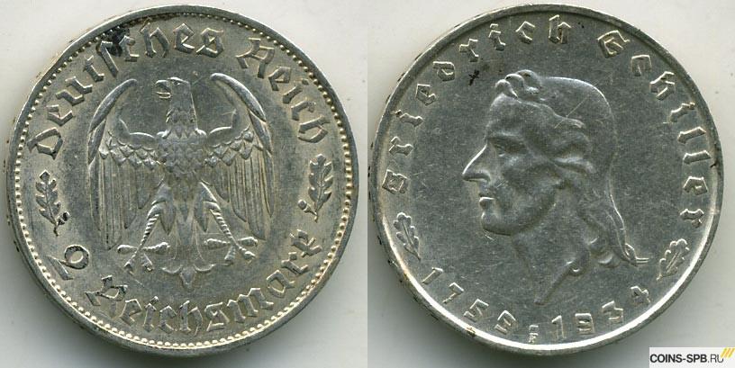 Купить рейхсмарки третьего рейха фото ценных монет россии и их цена