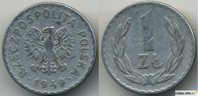 Монета 1 грош 1949 польша монеты великобритании фото