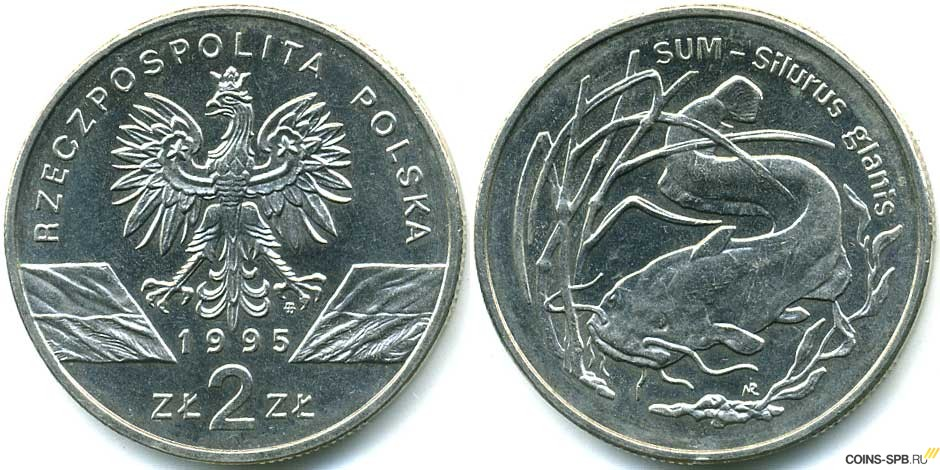 1995 монеты польша 1 копейка 1974