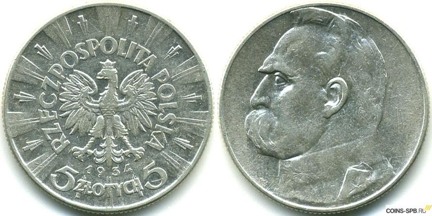 Монета 5 злотых 1984 года цена монета 1868