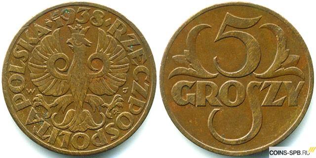 Монеты польши 5грошей 1990 г цена альбом монет регионы