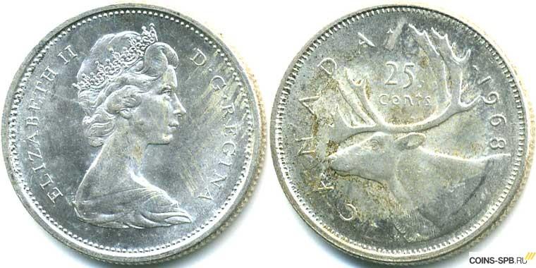 25 центов канада купить монета метрополитен цена