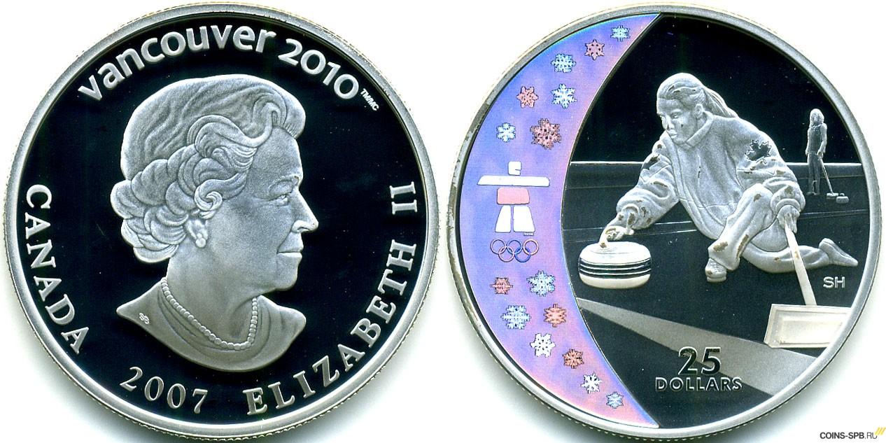 Монета канада 5 долларов 2007 год красный кленовый лист эмаль