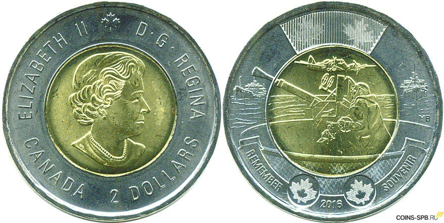 Монеты канады 2016 года доллар кеннеди