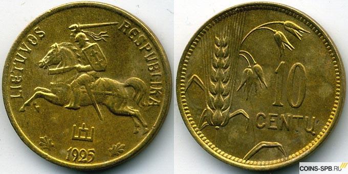 Монета литва 1925 года 10 центов купить металлоискатель в финляндии