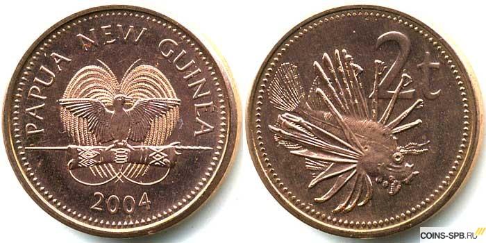 Папуа монеты монета 20 тиын 1993 года, фото и описание